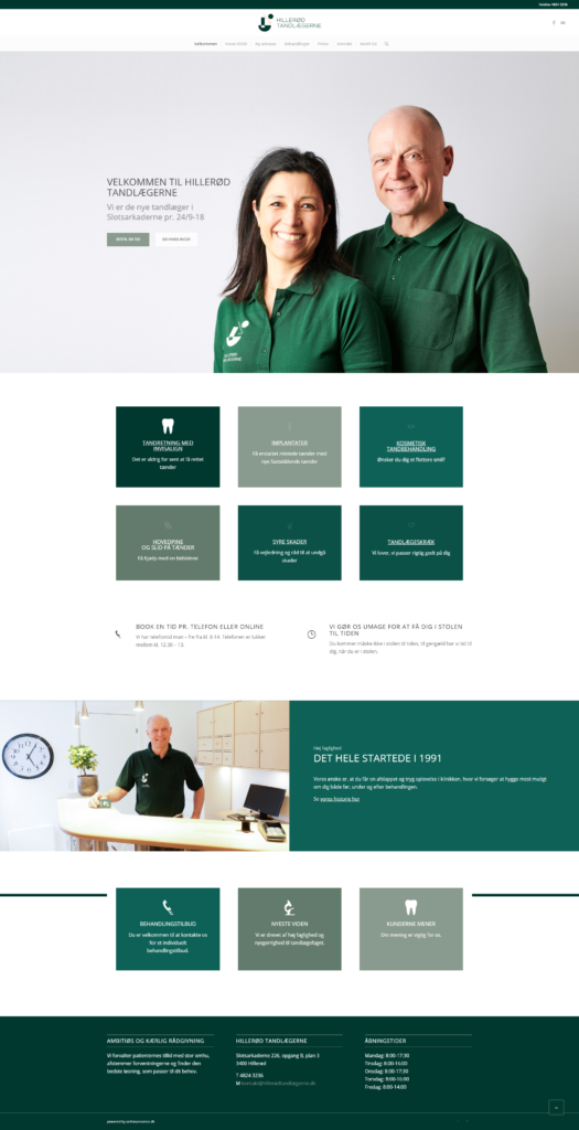 hillerød tandlægern - ny website